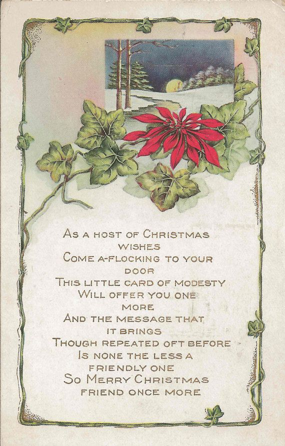 Christmas Poem ; Art Print of Vintage Art ;