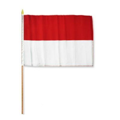 FlagsImporter Indonesia Traditional Flag and Flagpole Set