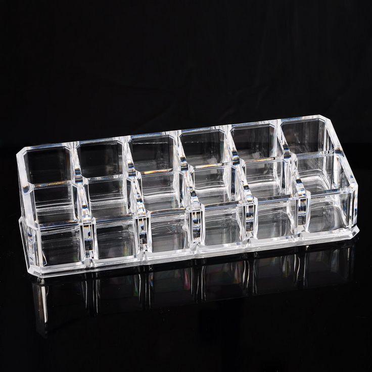 Hoomall Merk 12 Lipstick Holder Display Stand Clear Acryl Cosmetische Organizer Make Organisator Opbergdoos Voor Sieraden in | | staat100% Nieuwe| | kleur/| | materiaalPS Plastic| | QTY1 ST| | deel Geen.B83853| | Size17x6.2x4.3 cm[1 inch = 2.54 van Opbergdozen& bakken op AliExpress.com | Alibaba Groep