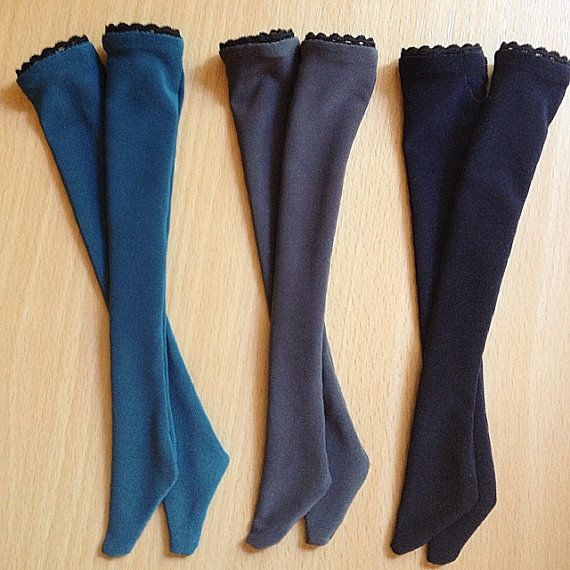 New High Socks  New Colors BJD MSD by ShirayasWardrobe on Etsy