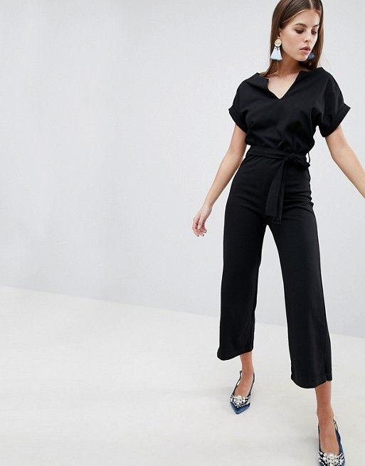 7019676fd99 Boohoo basic tailored wide leg jumpsuit