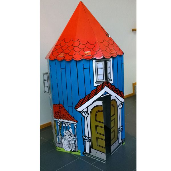 Large assemblable Moominhouse! Assemble, colour and play! Height 135 cm.