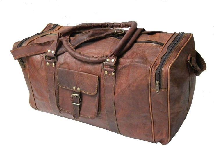 Коричневая мужская натуральная винтажная кожаная воловья кожа путешествий багаж спортивная спортивная сумки сумка с короткими ручками | Одежда, обувь и аксессуары, Аксессуары для мужчин, Рюкзаки, сумки и портфели | eBay!