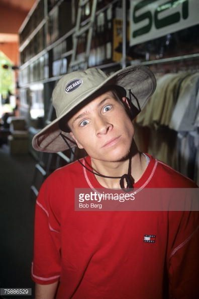 Brian Littrell of the Backstreet Boys poses for an April 1997 portrait in Miami Beach Florida