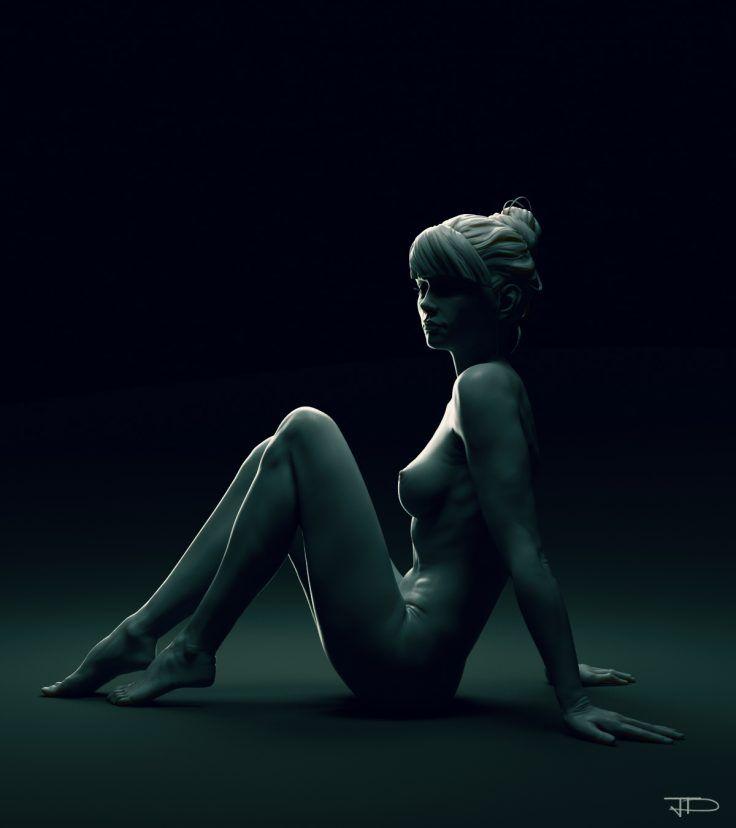 Girl Study - Full body by Julien Desroy