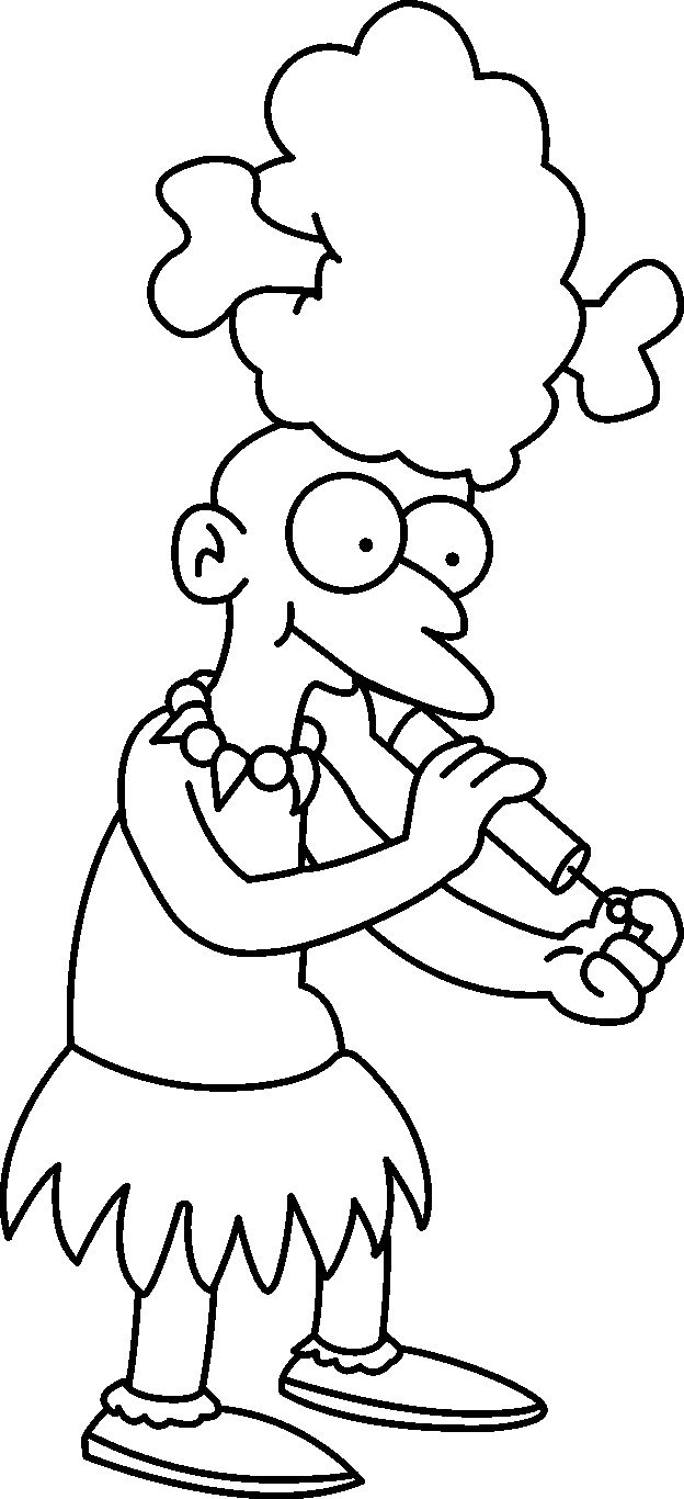Simpsons coloring games online - Free Coloring Pages For Kids Simpsons Coloring Pages