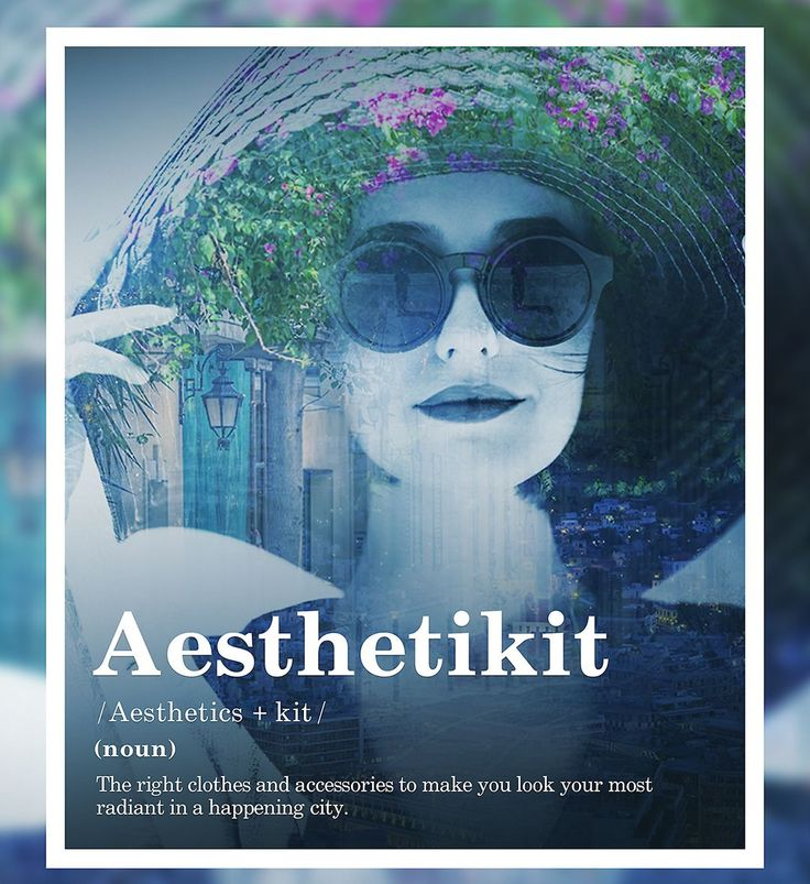 The right clothes and accessories to make you look your most radiant in a happening city.  #Aesthetikit