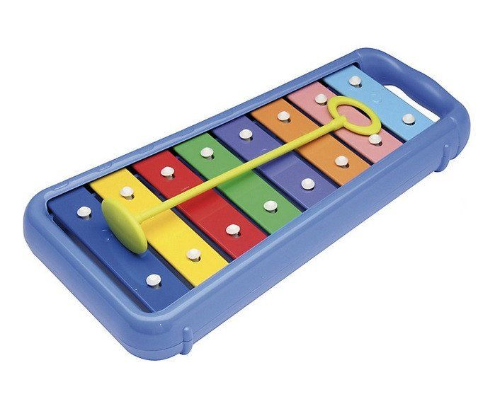 Halilit Baby Xylophone - www.totswarehouse.com Let your child explore and create music with this fun xylophone from Halilit. The xylophone has 8 colourful tuneful bars to create excellent noisy fun for your teeny one. Suitable from 12 months. Comes with safe mallet. #baby #music #toys