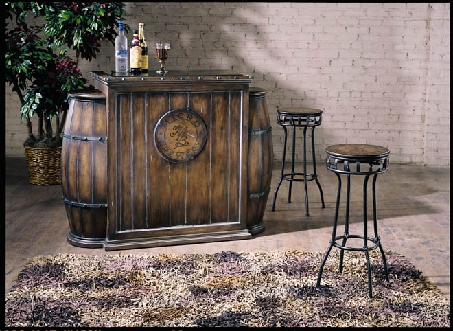 Antique Barrel Bar