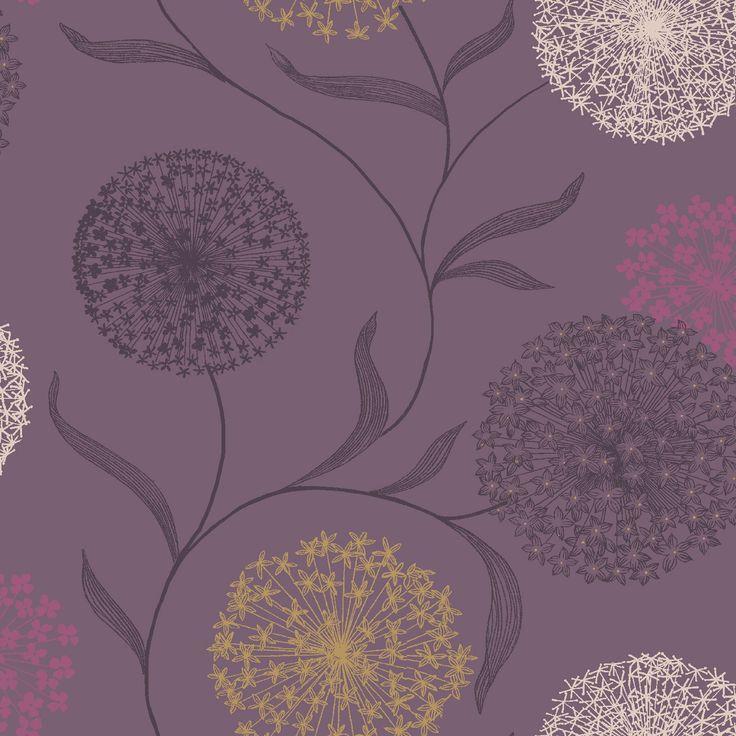 Holden Starburst Grey & Purple Wallpaper | Departments | DIY at B&Q