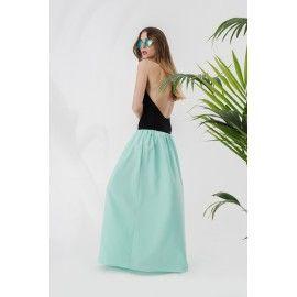 Maxi mint skirt #serenity #minimalism