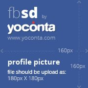 Facebook profile picture dimensions are 160x160px but you should upload it as 180x180px and facebook will scale it down. Find more about as here: http://yoconta.com/