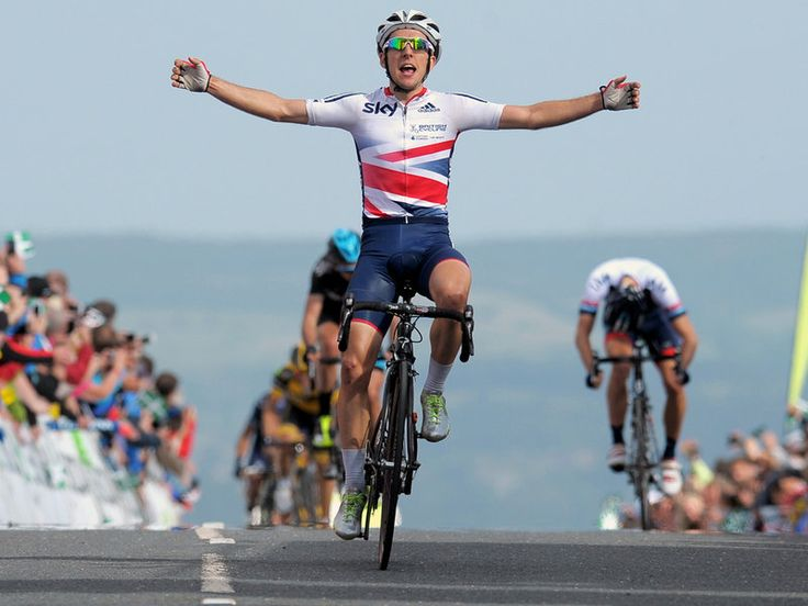 At the summit Great Britain Academy rider Simon Yates out-sprinted the group to win