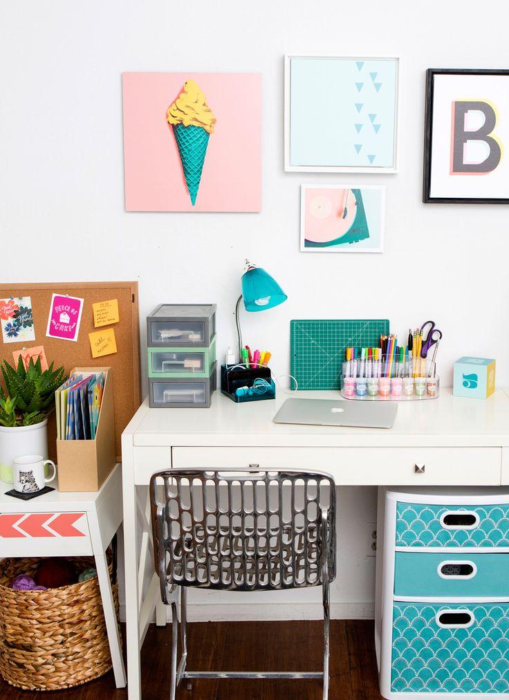 Best 20 desk essentials ideas on pinterest beauty desk - Organized work desk ...
