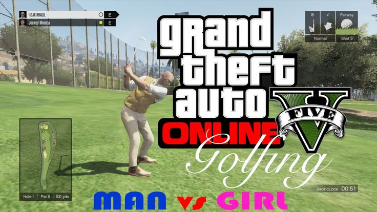 GTA 5 : PLAYING GOLF { MAN vs GIRL } SHE FINISHED 1st! NOOO!