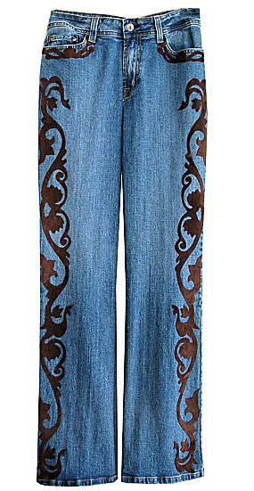 embellished jeans for women | GossamerWingsSantaFe.com | CUSTOM EMBELLISHED JEANS by Barbara Grimes