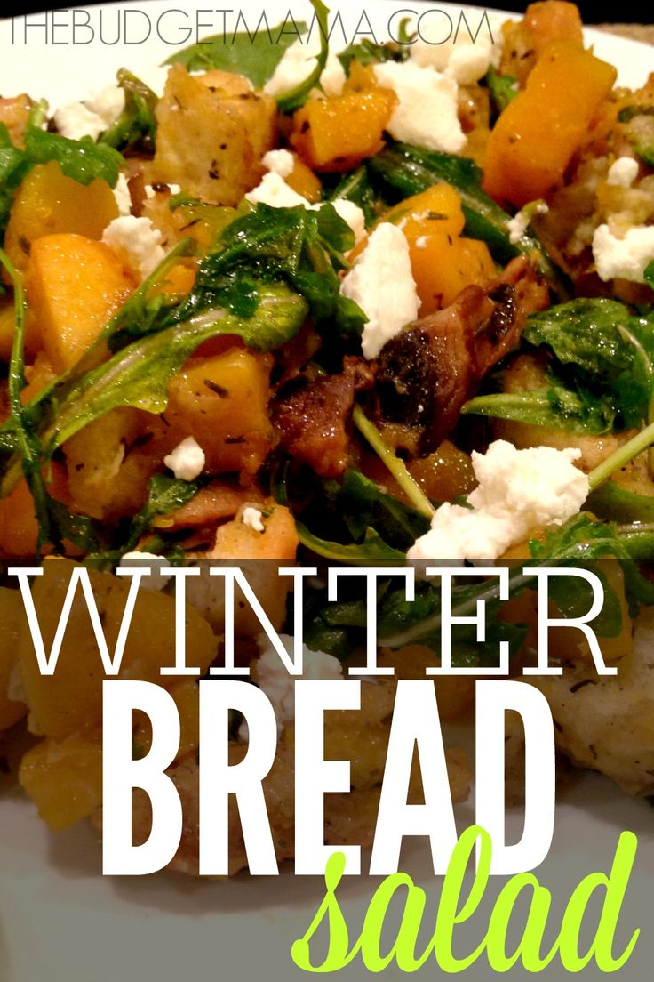 Need a delicious meal idea? This clean eating winter bread salad recipe is easy to whip up and super delicious!