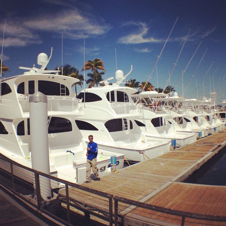 Viking Yacht row at the Palm Beach Boat Show.