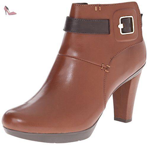 Geox D54G9B femmes marron cuir Bottine, EU 41 - Chaussures geox (*Partner-Link)