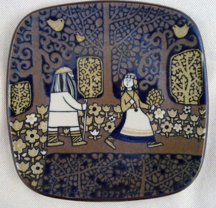 KALEVALA 1977 YEAR PLATE BY ARABIA OF FINLAND DESIGNED BY RAIJA UOSIKKINEN   eBay