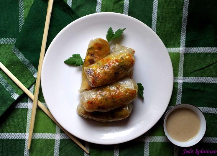 Jedz kolorowo: Pieczone sajgonki wegetariańskie dla alergików