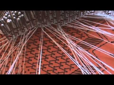 Punto COTA DE MALLA encaje de bolillos I PARTE (nivel intermedio) - YouTube
