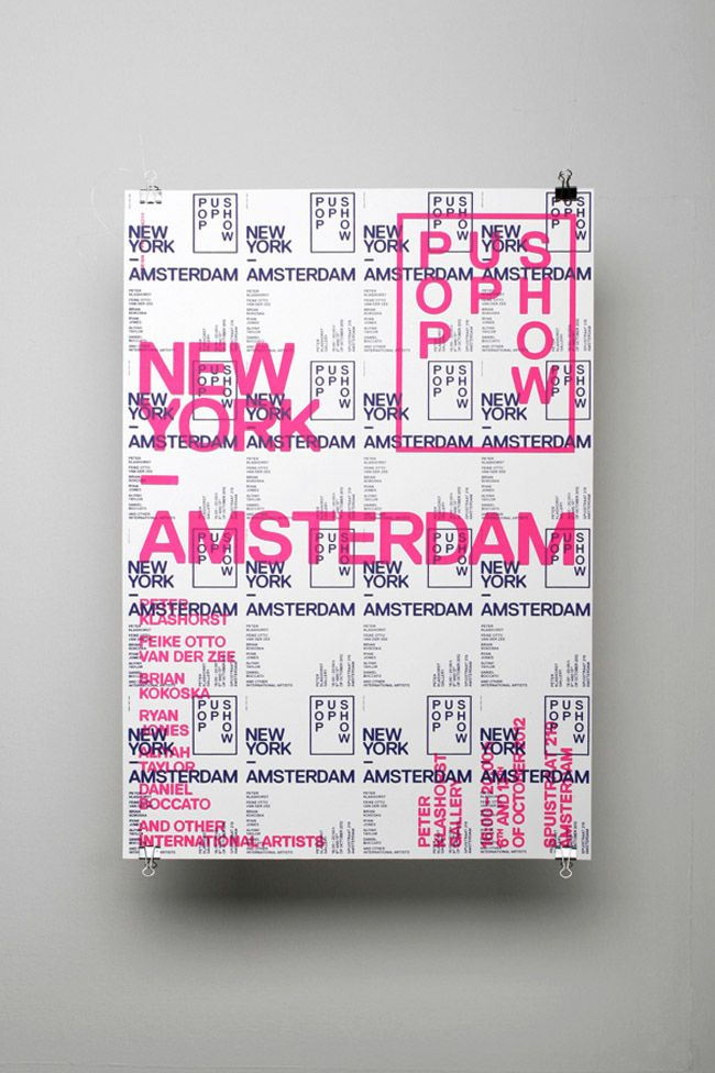 OK200 #design for The Amsterdam New York Pop Up Show - #graphics