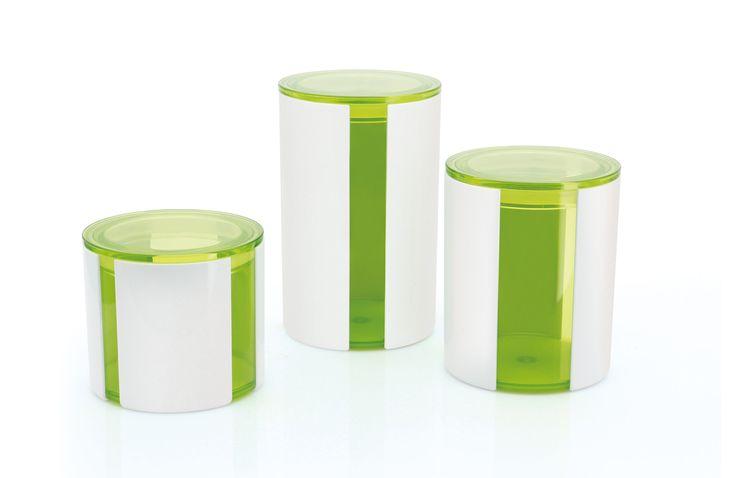 Stripe 3 Piece Kitchen Canister Set