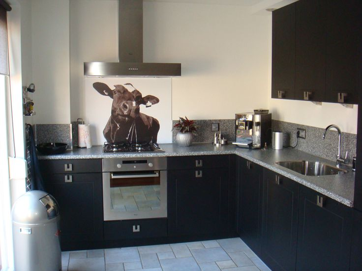 Visualls keukenachterwand foto koe Premium - Startpagina voor keuken ideeën | UW-keuken.nl