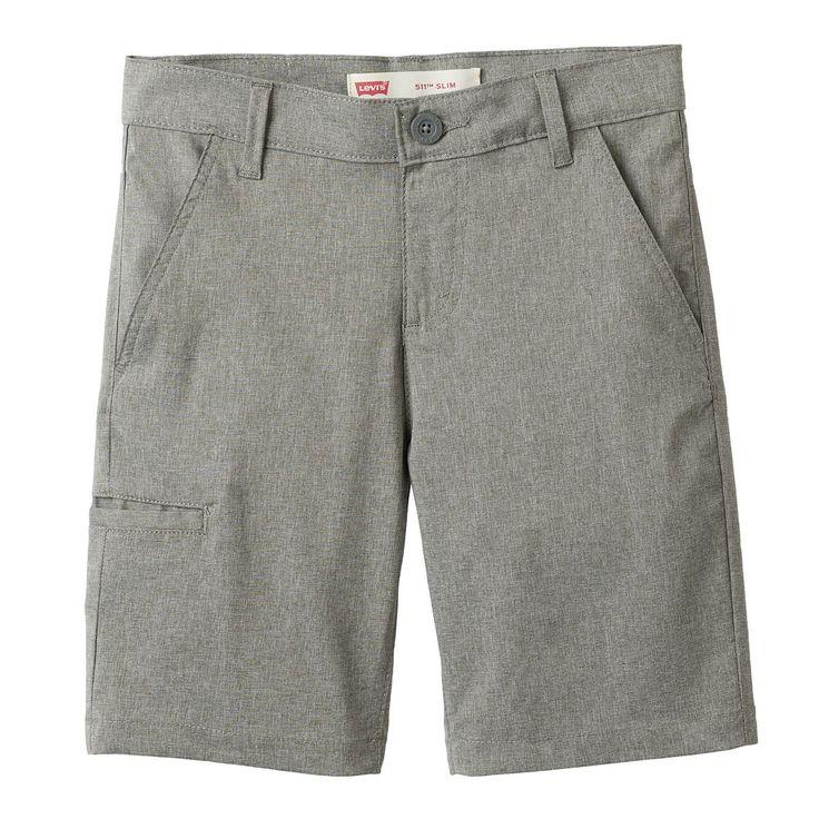 Boys 8-20 Levi's® Quick-Dry Denim Shorts, Size: 18, Grey (Charcoal)