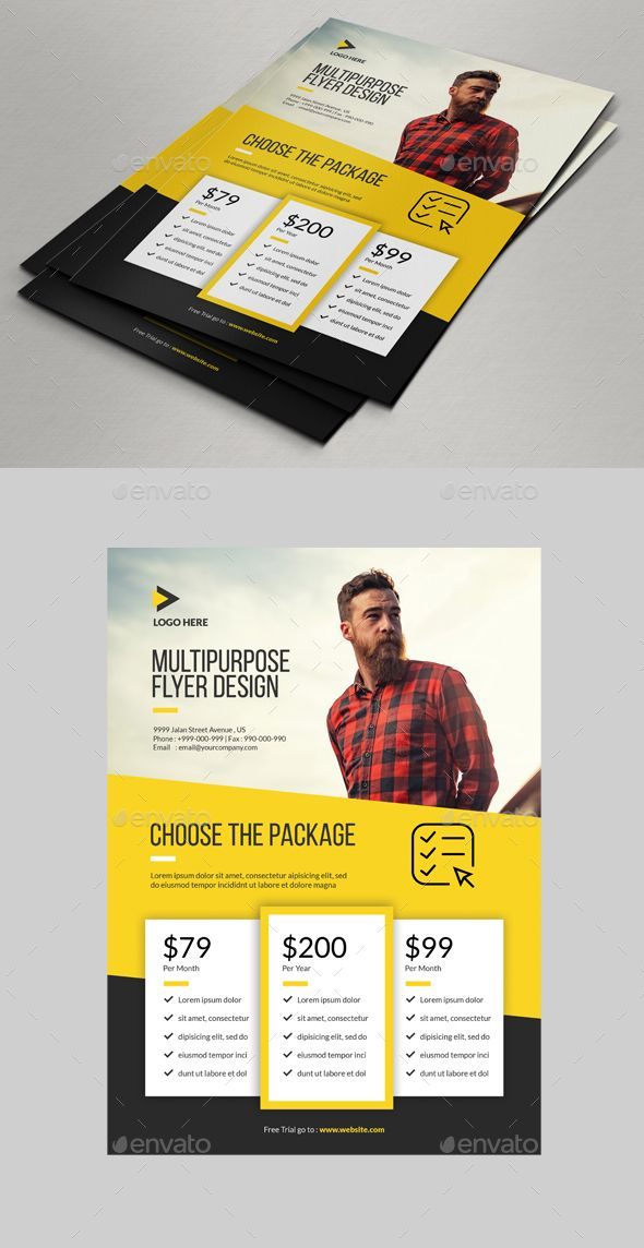 PSD Multipurpose Flyer Price Designs  Template • Only available here ➝ graph...
