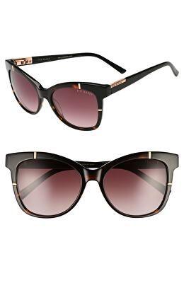 313a42c57e77d TED BAKER LONDON Designer 55mm Square Cat Eye Sunglasses