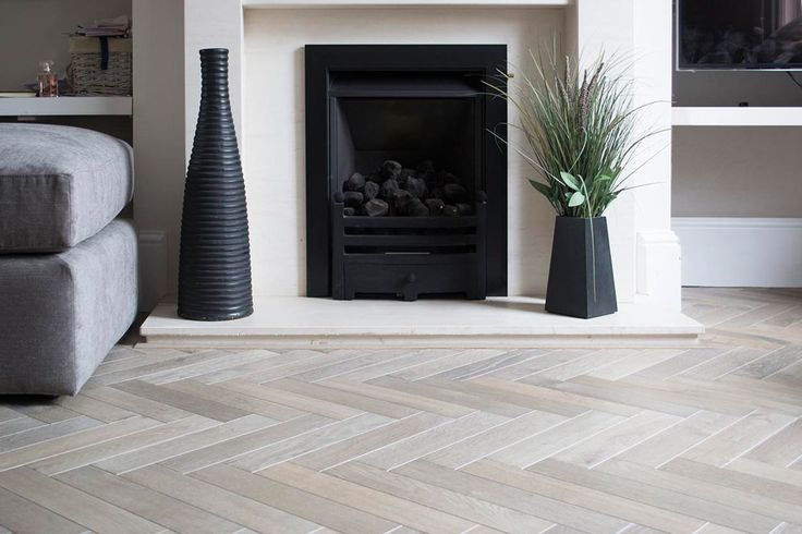 Slate Grey Herringbone Parquet. Supply and fix in Watford, Hertfordshire. 70mm thick engineered Pieces.