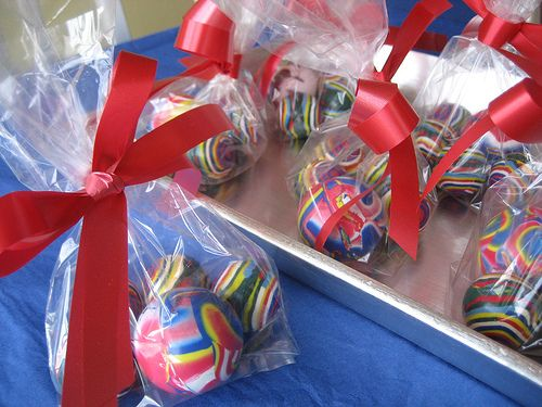 "Party Favors - Add a note that says ""I hope you had a ball at my birthday party."""