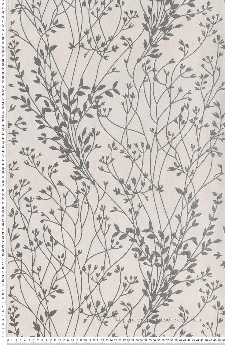 Papier peint Genets Argen - Papier peint AS Création : Papier peint chambre, entrée, pièce à vivre fleurs