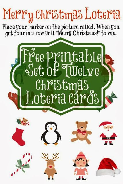 Entertain the Whole Family with Merry Christmas Loteria {Bingo Style Game} with **Free Printables** - Bare Feet on the Dashboard