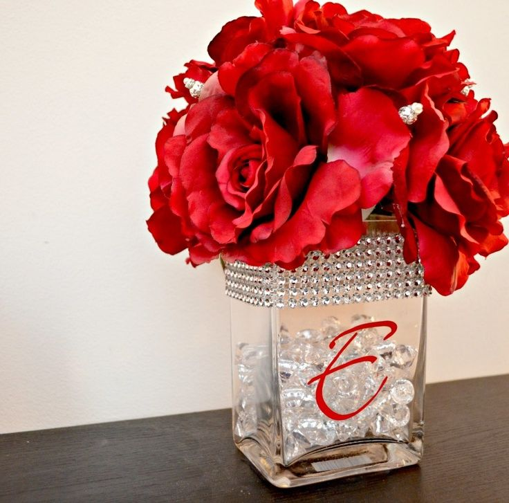 19 best gift items images on pinterest chocolate chocolate one artsy mama head table centerpiece david tutera bridal i would just leave the initial off this vase and use it in my house its beautiful junglespirit Image collections