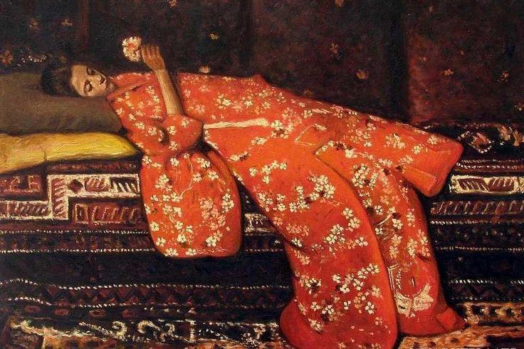 George Hendrik Breitner Girl in Red Kimono