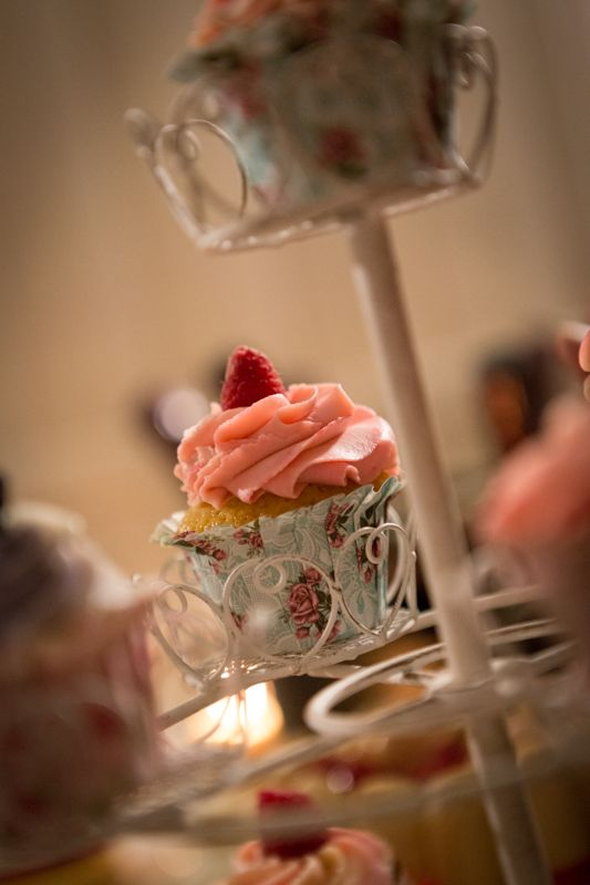 Cupcake pink con i lamponi