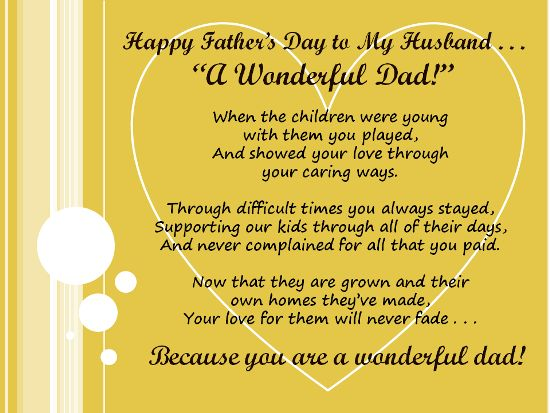 100 best happy fathers day images on pinterest parents day kids fathers day messages for my husband m4hsunfo