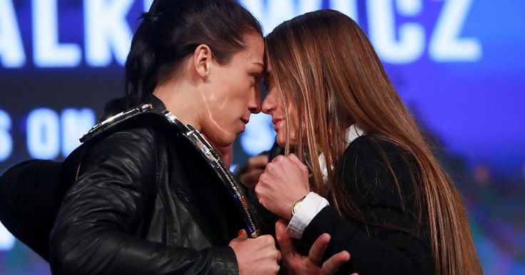 Joanna Jedrzejczyk and Karolina Kowalkiewicz exchanged pleasantries during UFC 205 on sale press conference, but when the staredown began the intensity went through the roof.