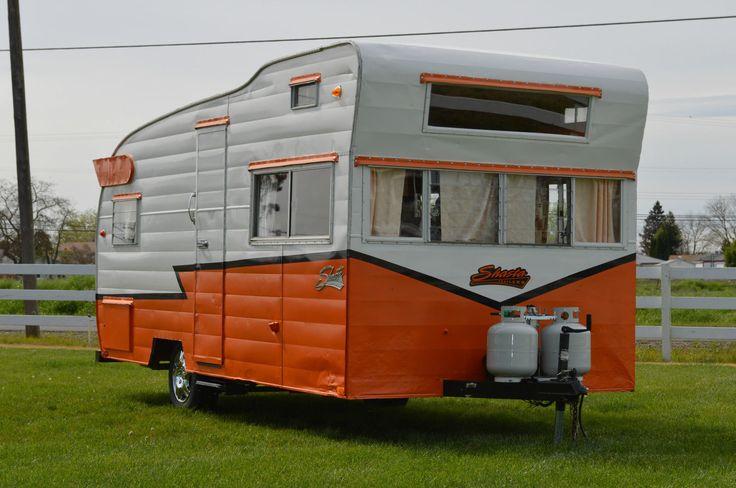Orange Shasta Camper trailer for sale, Vintage campers