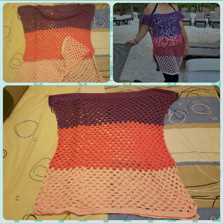 Vestido tejido al Crochet para la playa - T: adulto