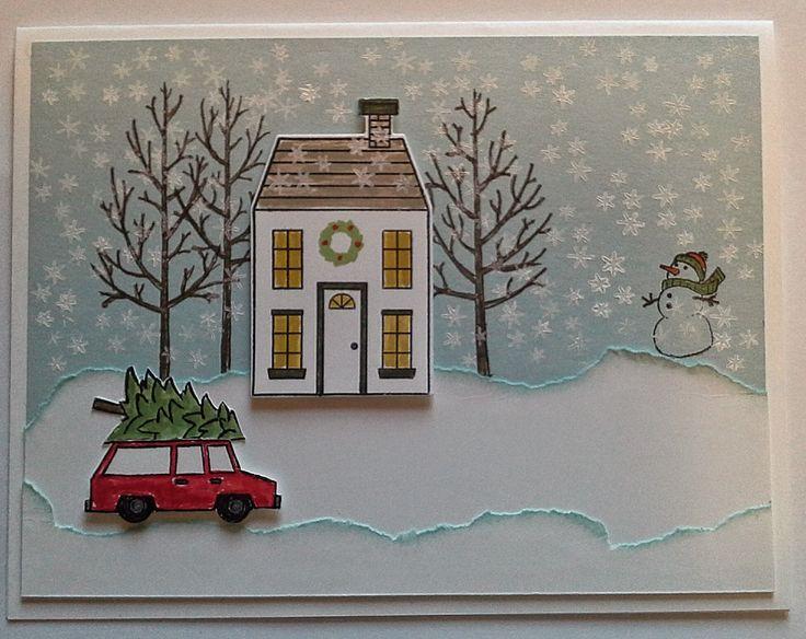 White Christmas Stamp Set