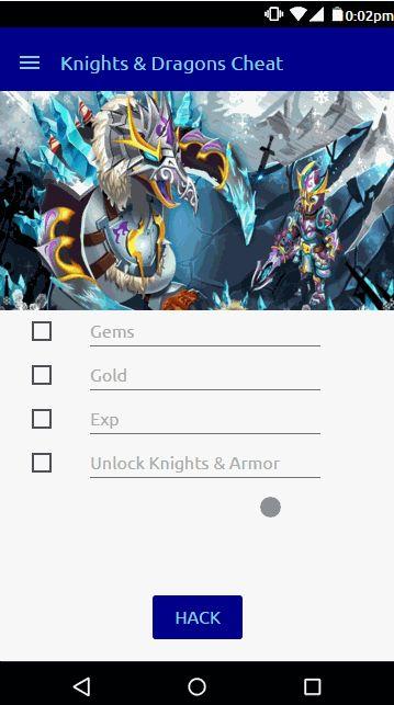 Knights and Dragons Hack Cheats