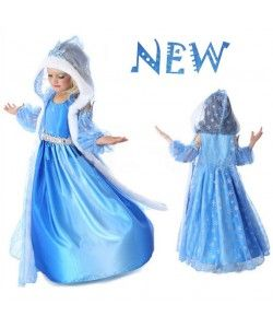 Frozen inspired dress with cape