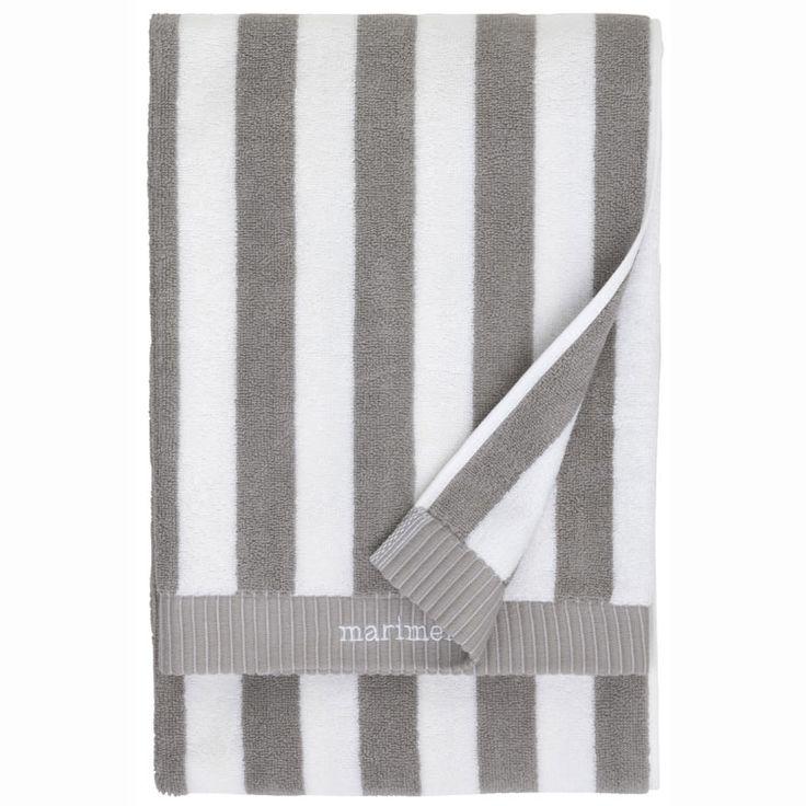 Nimikko badehåndkle, grå/hvit Marimekko - Kjøp møbler online på ROOM21.no