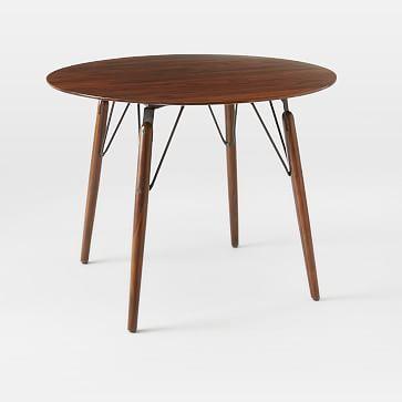Graphica Dining Table - Round (Hazelnut) #westelm