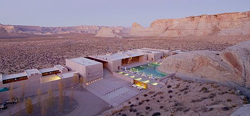 Amangiri Resort in Utah, USA. I really recommend to find all pictures from this places via Google images. Incredible. I always want just sea sea sea, but this place makes me feel so relaxed and calmed....