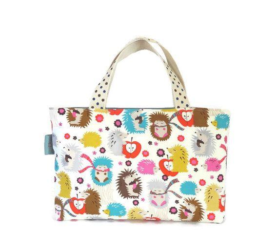 Lil' Miss Hedgehog Tote Bag // Toy Carrier